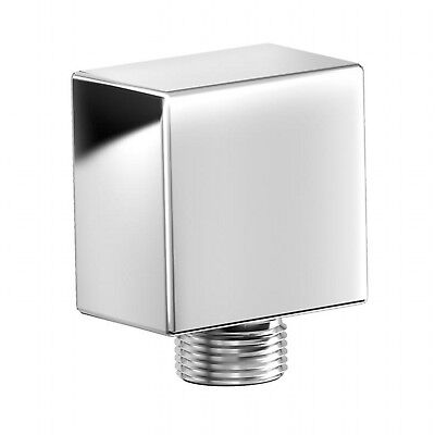 ENKI Chrome Hand Shower Outlet Wall Valve Connector Square Bathroom Bath - Hand Outlet Bathtub