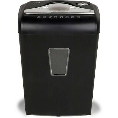 Aurora High Security Eight Sheet Micro Cut Paper Shredder With Led New