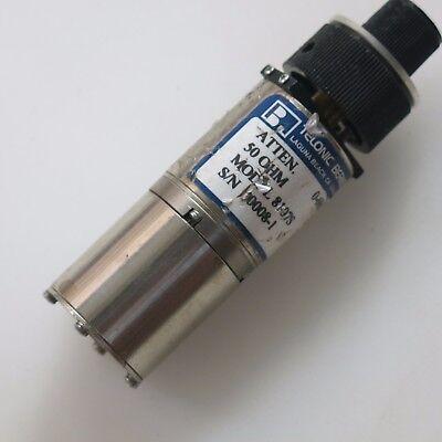 1pc Telonic 8107s 0-69db Sma Rf Coaxial Adjustable Attenuator