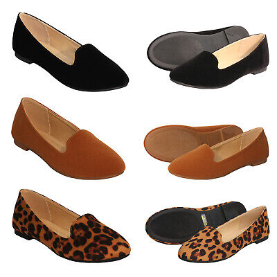 ShoBeautiful Womens Ballet Flats Round Toe Loafers Classic Slip On Comfort Shoes Ballet Classic Flats