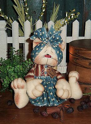 Primitive Annie Kitty Cat Ann Doll Ornie Paper Pattern #472