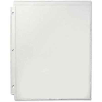 Business Source Sheet Protector w/Flap Top Loading 25/PK Clear 37517