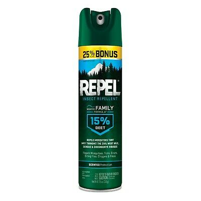 LOT OF 3-REPEL FAMILY Insect Repellent 15% DEET Mosquitoes+Ticks Family formula  ()