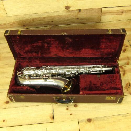 Vintage Conn New Wonder Series I Tenor Sax #131252 1924 - Silver Plated