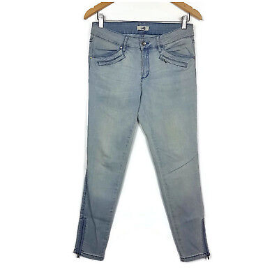 Jag Womens Jeans Size 10 Blue Distressed Zipper Cuffs