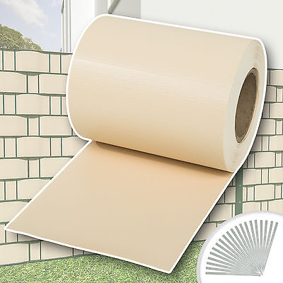 Garden fence screening privacy shade 70 m roll panel cover mesh foil cream new