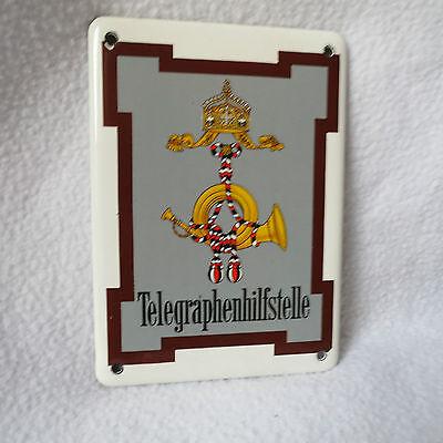 Telegraphenhilfstelle Emailschild Emaille Emailleschild 14x10cm Türschild Repro