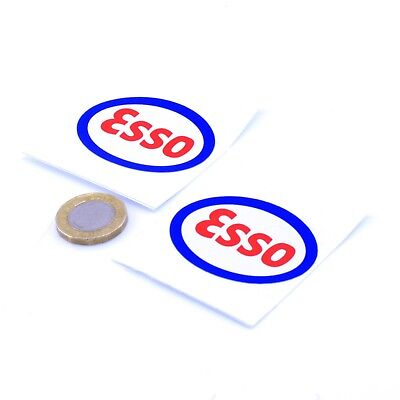 Esso Stickers Classic Car Motorcycle Racing Sticker Vinyl Decals 50mm x2