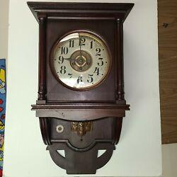 Antique German Junghans Wood chime ( westminster ? ) wall clock B08