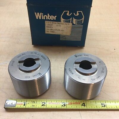 Lot Of 2 Cj Winter A10z Thread Rolls Gage .822 34-20x1