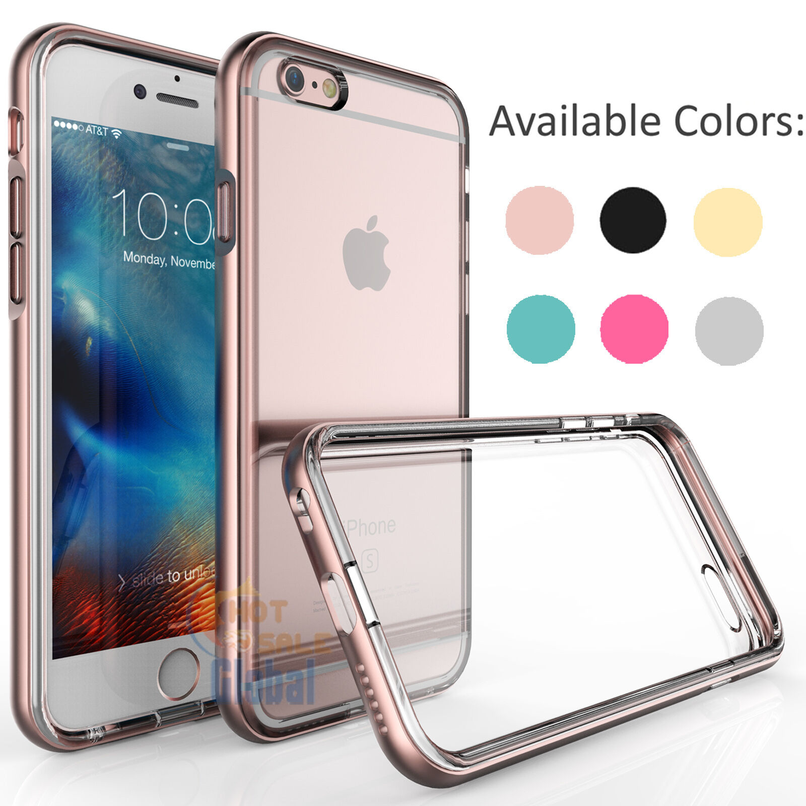 $3.99 - Shockproof Frame Bumper Clear TPU Back Case Cover for Apple iPhone 6 6s Plus