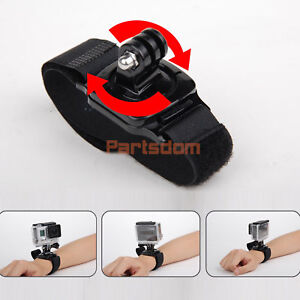 360 Degree Rotation Wrist Hand Strap Band Holder W/Mount for GoPro 2 3 3+ 4