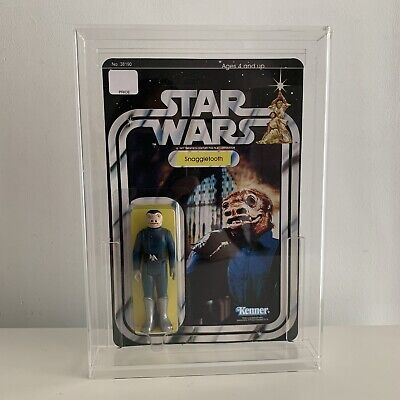 Vintage STAR WARS BLUE SNAGGLETOOTH CANTINA ALIEN CUSTOM on New Hope Style MOC