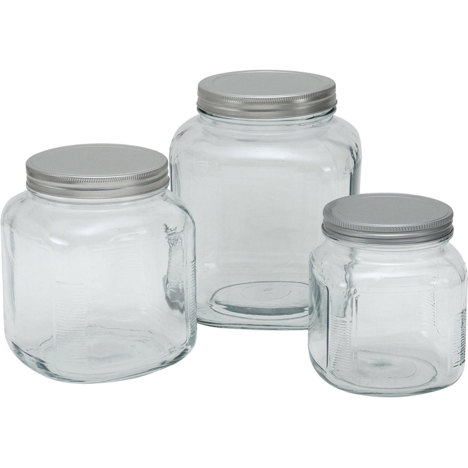 Glass Cracker Jar with Lid, 2 Piece Keep Your Food Fresh And