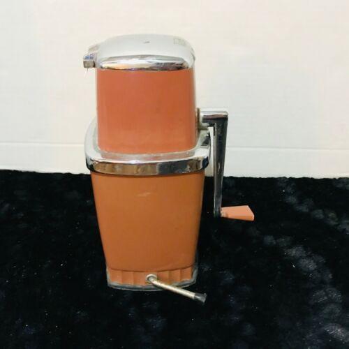 Vintage SEARS ICE GRINDER Swing Handle Rust Color - Hand Crank