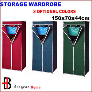 2-Shelves-Brand-New-Easy-to-assemble-Portable-Wardrobe-Large-Space-Storage