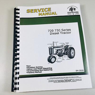 Technical Service Manual For John Deere 720 730 Diesel Tractor