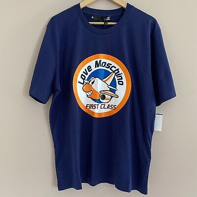 Authentic Love Moschino Blue First Class Mens Tee (Size Small)