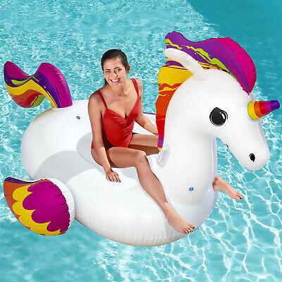 Flotador de piscina XXL unicornio inflable colchoneta hinchable piscina playa