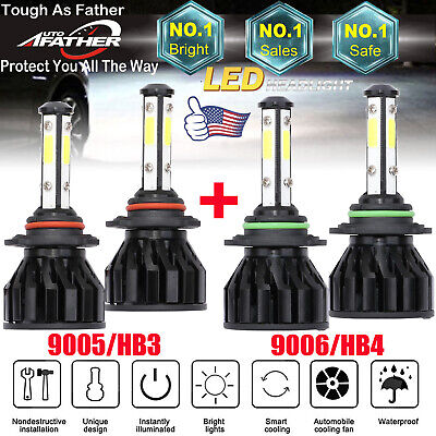 9005 9006 CREE LED Headlight Bulbs HI-Low for GMC Sierra 1500 2500 HD 2001-2006 2001 Xenon Headlight Bulbs