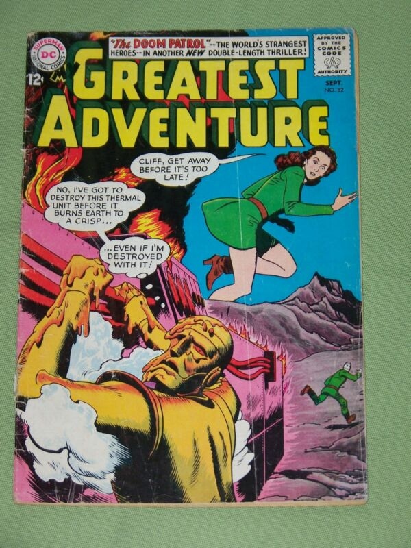 "MY GREATEST ADVENTURE, #82, 1963, ""The Doom Patrol"", Very Good - Fine Condition"