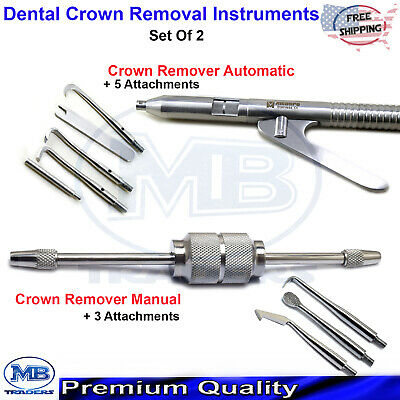 Restoration Dental Automatic Manual Crown Remover Gun Surgical Lab Instruments