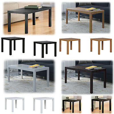 3 Piece Coffee Table Set End Modern Contemporary Wood Nightstand Brown Furniture (3 Piece Wood Coffee)