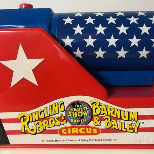Vintage Ringling Bros- Human Cannon Toy -USA FLAG- FREE SHIPPING!