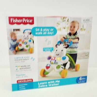 Fisher- Learn With Me Zebra Walker Infant to Toddler 6m Toys