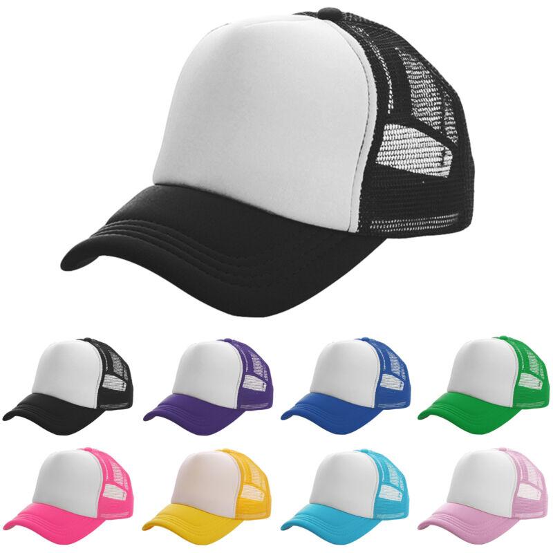 Damen Herren Hüte Mesh Baseball Cap Basecap Snapback Kappe Schirm Mütze Sommer