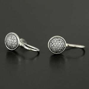 Authentic Genuine Pandora Sterling Silver Dazzling Droplets Earrings - 290734CZ