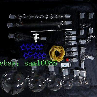 New Lab Glassware Kit1000organic Chemistry Laboratory Unit2429free Shippin