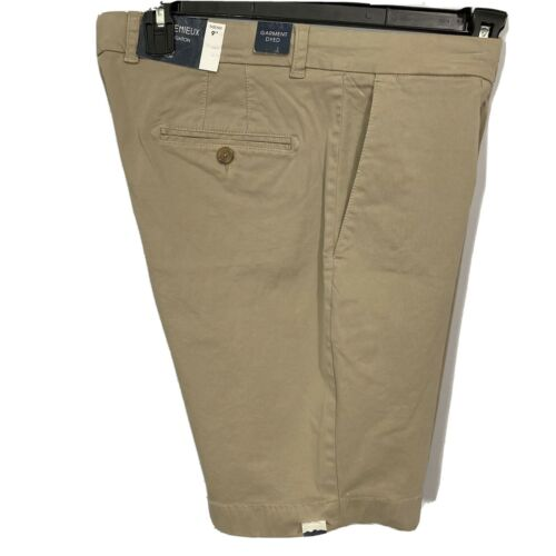 """Cremieux Mens Chino Shorts Brighton 36 Flat Front 9"""" Inseam Khaki NWT Golf Clothing, Shoes & Accessories"""