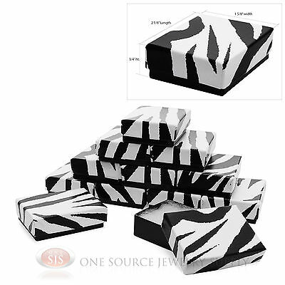 12 Zebra Print Cotton Filled Gift Boxes 2 18 X 1 58 Jewelry Pendant Box