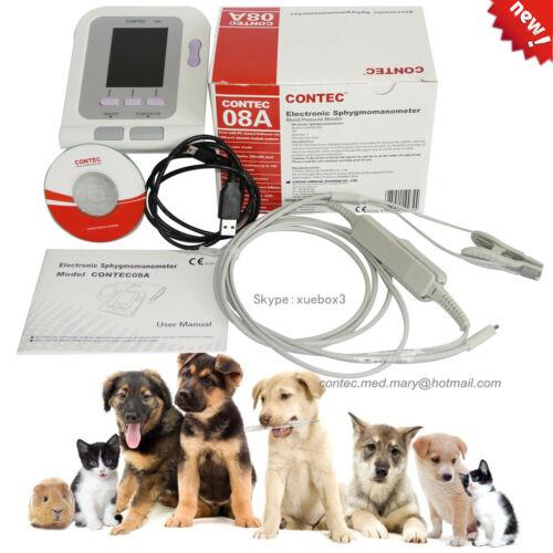 FDA Veterinary OLED digital Blood Pressure&Heart Beat Monitor NIBP CONTEC08A Vet