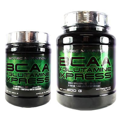 Scitec Nutrition BCAA + Glutamine Xpress Branched Chain Amino Acids 300g & 600g