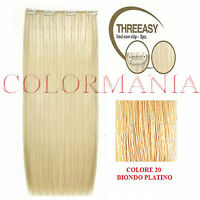 She Kit Threeasy 3 Fasce Extension Con Clip Colore 20 Biondo Platino -  - ebay.it