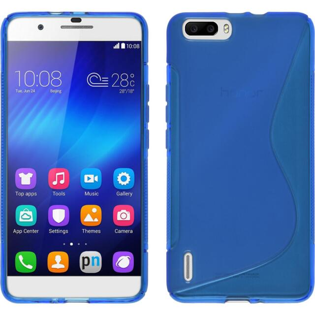 Silicone Case Huawei Honor 6 Plus - S-Style blue + protective foils