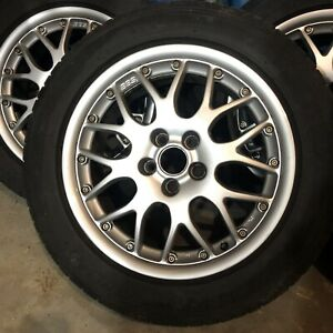 "4 - 16"" BBS Rims; 5x100 bolt pattern with 205/55zr16 tires"