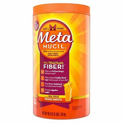 Natural Psyllium (Metamucil Natural Psyllium Fiber Supplement Real Sugar Orange Smooth 3lb 09/21+ )