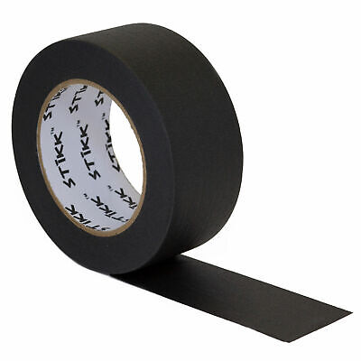 2 Inch X 60yd Stikk Black Painters Tape 14 Day Easy Removal Trim Edge Finishing
