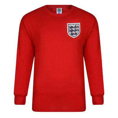 Official England Football 1966 Retro World Cup Finals Away Shirt | Adult | Red