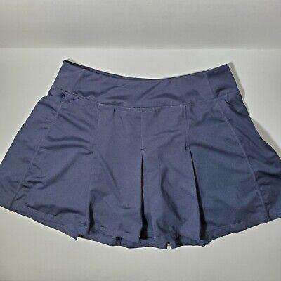 Kyodan M Women's Navy Blue Athletic Tennis Golf Skirt Skort Undershorts Medium Blue Tennis Skirt