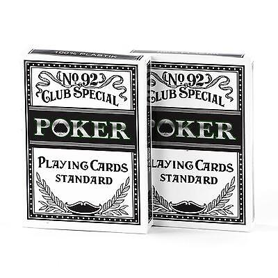 100 % Plastik Poker Karten 2 Deck á 54 Blatt Casino Casinokarten