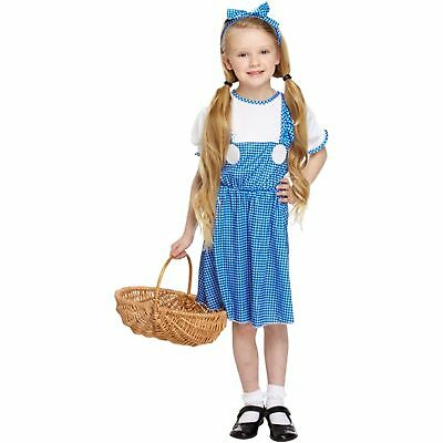 Dorothy Dress Up Outfit (DOROTHY COUNTRY GIRL GINGHAM DRESS UP OUTFIT AGE 4-12 kids fancy dress)