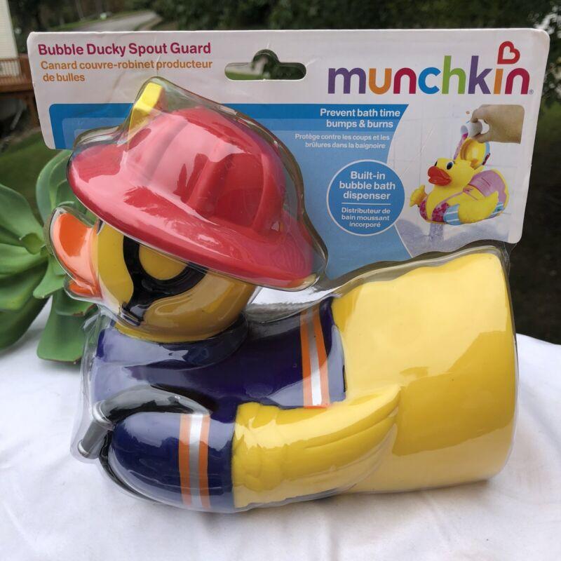 Munchkin Bubble Ducky Spout Guard Bubble Bath Dispenser Firefighter Duck