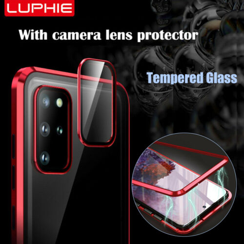For Samsung S20 UltraS20 Magnetic Tempered Glass CaseCamera Lens Protector