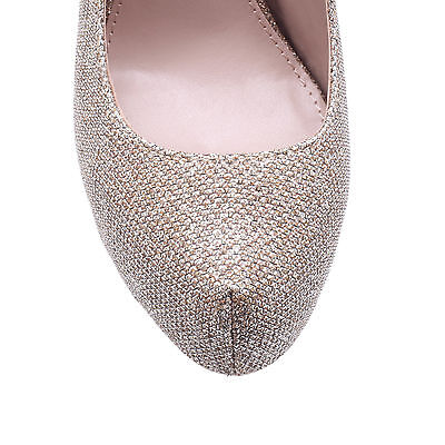 KACI CARVELA KURT GEIGER FABRIC OTHER METALLIC WOMENS LADIES SHOE