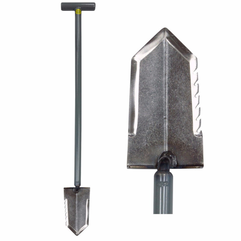 "Lesche T- Handle 36"" Heavy Duty Metal Detector Shovel w/ Serrated Blade"
