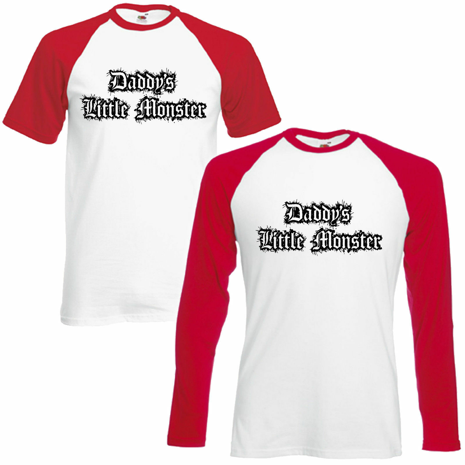 Daddy's Little Monster Baseball T-Shirt Cosplay Lil Harley Quinn Inspired Top
